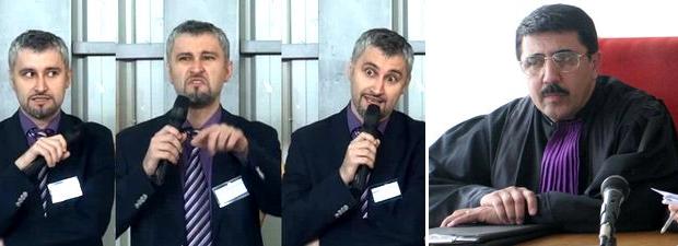 Jud. Dorel Matei (stanga) si Bogdan Tudoran (dreapta). Foto luju.ro